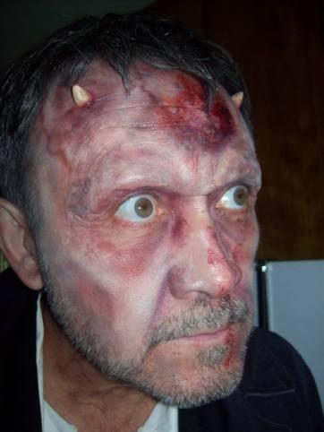 Demon stunt man. Airbrush paint and fx. Horns by Ravenous Studios. Model: Jerry Buxbaum