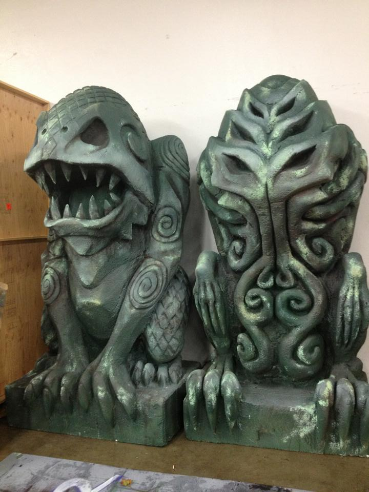 """Dagon and Cthulhu"" design by Dave Helfrey. Sculpt by myself and Adam Goldthwaite. Painted by me."