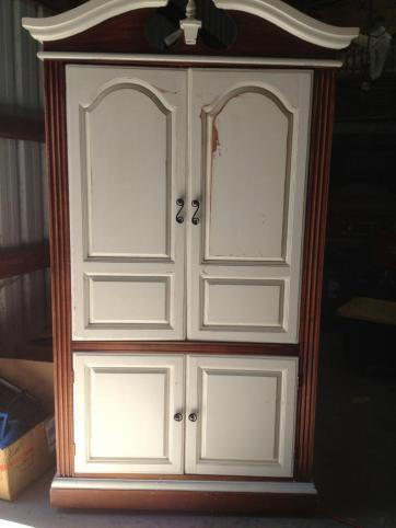 Armoire before distress/mold