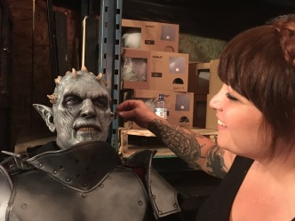 BTS of me applying makeup for The Librarians episode 410. Prosthetics by Ravenous Studios