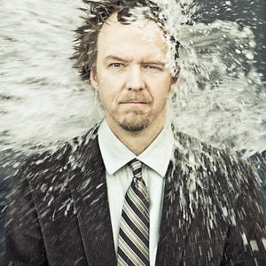 Makeup is not just for the ladies! We spiffed up Jason Satterlund just to douse him in water for a one of a kind headshot. photo by Levy Moroshan
