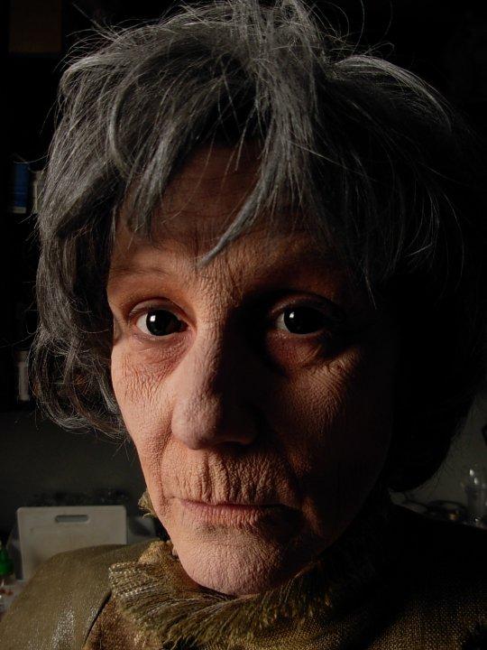 Stipple aging. Model: Lorraine Barr
