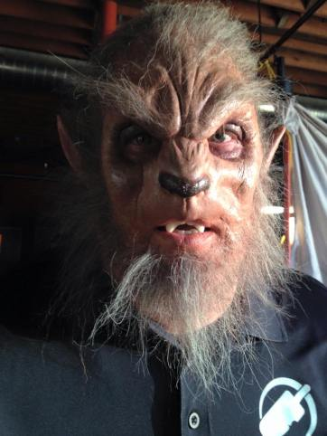 Werewolf. Prosthetic application, paint, hair